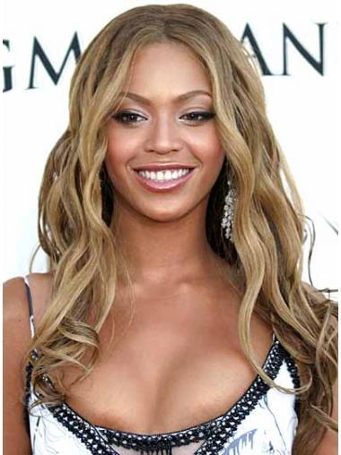 "Syntetisk Flott Blond 16"" Lang Maskinknyttet Beyonce Parykk"