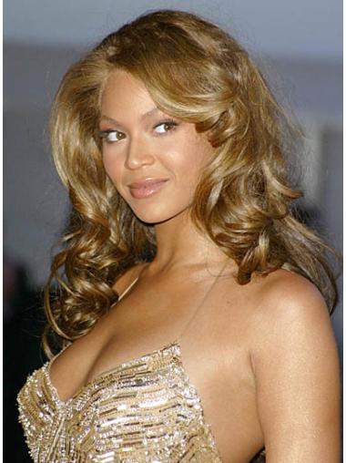 "Lace Front Uten Smell Krøllete 24"" Blond Perfekt Beyonce Parykk"