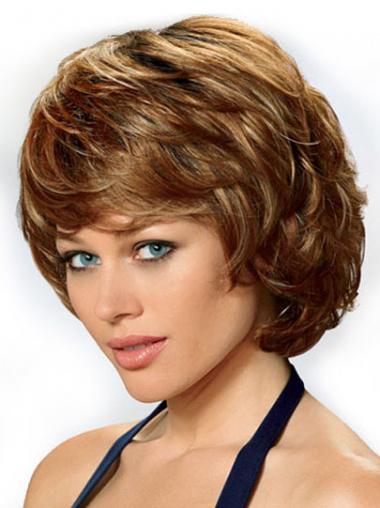 "Gorgeous Auburn 8"" Halv Lengde Lace Front Bølgete Klassiske Parykker"
