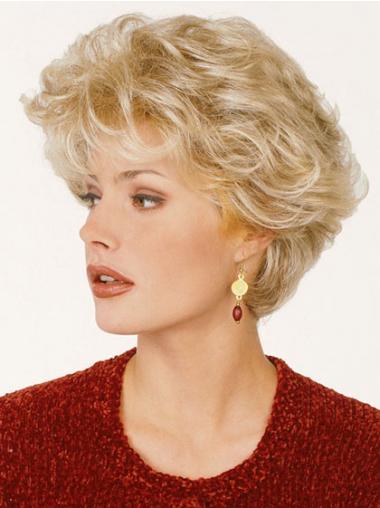 """Klassiske Maskinknyttet Kort 8"""" Stilig Blond Kvinne Parykker"""