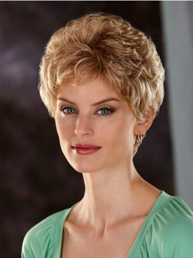 "Klassiske Lace Front Kort 6"" Ny Blond Kvinne Parykker"