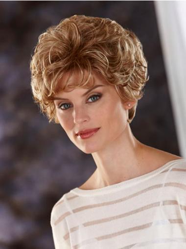 """Bølgete 8"""" Beleilig Blond Kort Lace Front Klassiske Parykker"""