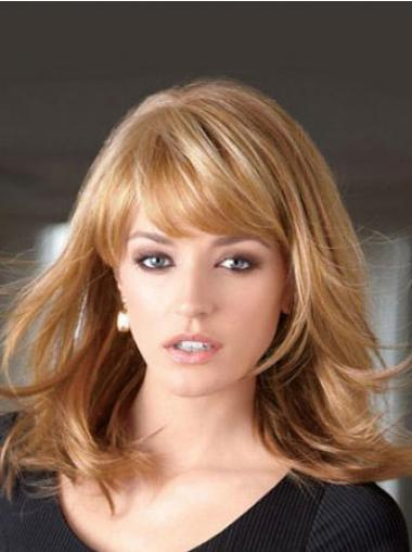 """Frekk Syntetisk Blond 14"""" Halv Lengde Rett Lace Parykk"""