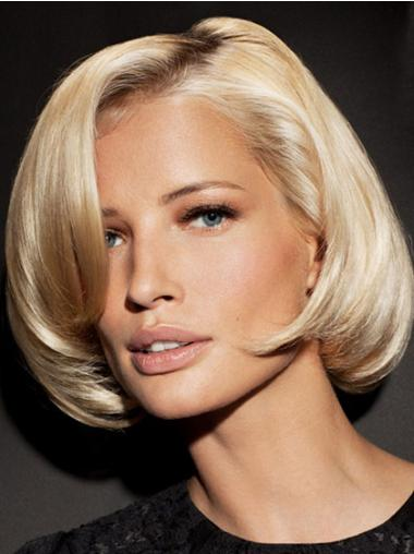 "Trendy Syntetisk Blond 9"" Halv Lengde Rett Lace Parykk"