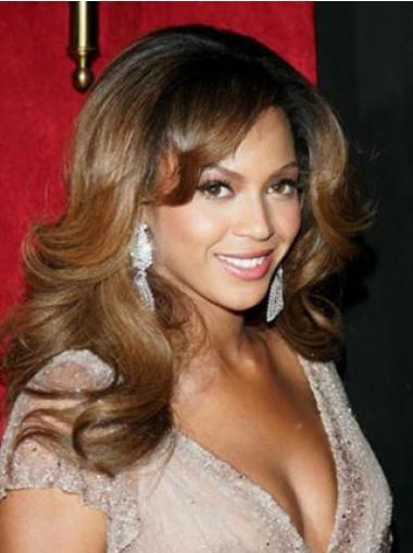 """Full Lace Bølgete 17"""" Brun Mote Beyonce Parykk"""
