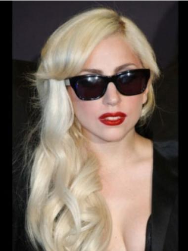 "Bølgete 16"" Stil Syntetisk Blond Lang Lady Gaga Parykk"