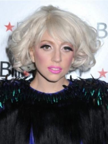 "Krøllete 10"" Flink Syntetisk Halv Lengde Lady Gaga Parykk"