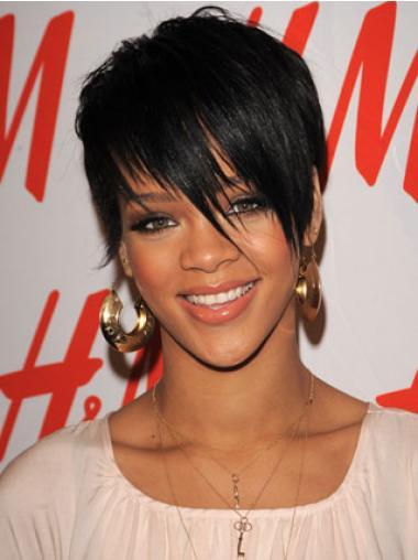 """Maskinknyttet Rett 4"""" Stil Indisk Remy Hår Rihanna Parykk"""