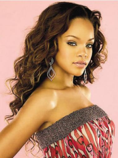 """Lace Front Krøllete 22"""" Flink Indisk Remy Hår Rihanna Parykk"""
