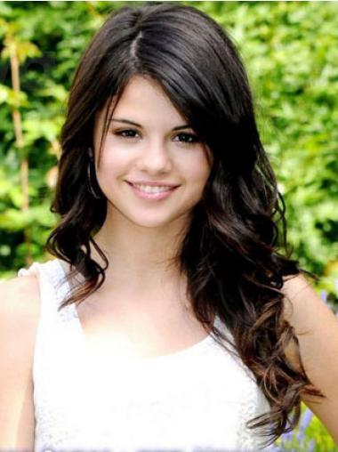 "Maskinknyttet Bølgete 20"" Fleksibilitet Remy Hår Selena Gomez Parykk"