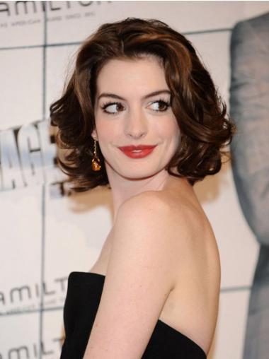 """10"""" Auburn Syntetisk Halv Lengde Beleilig Bølgete Anne Hathaway Parykk"""
