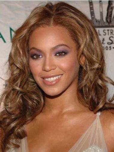 """Brasiliansk Remy Hår Naturlig Auburn 16"""" Lang Lace Front Beyonce Parykk"""