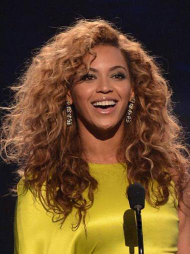 "Maskinknyttet Kinky 16"" Auburn Rimelig Beyonce Parykk"