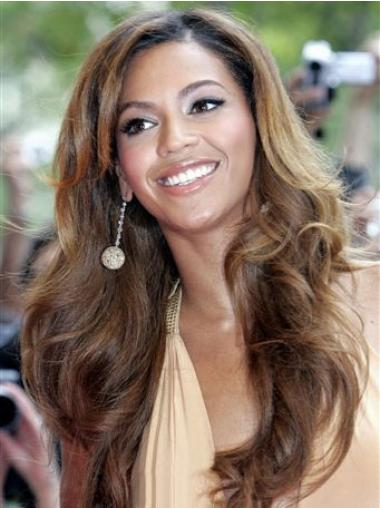 "Syntetisk Utrolig Brun 18"" Lang Maskinknyttet Beyonce Parykk"