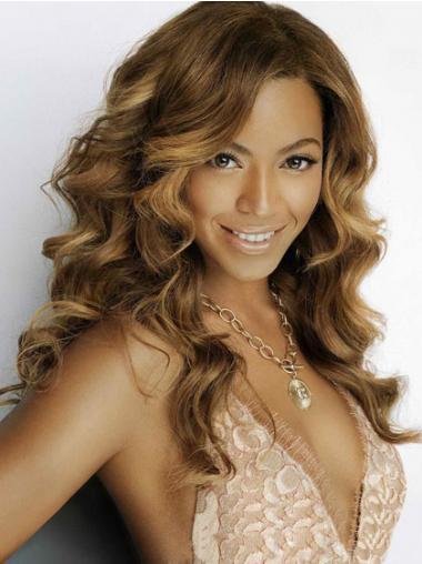 "Brasiliansk Remy Hår Billig Brun 18"" Lang Lace Front Beyonce Parykk"