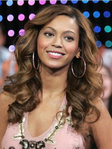 """Lace Front Bølgete 18"""" Brun Vakker Beyonce Parykk"""