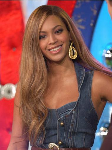 "Lace Front Uten Smell Bølgete 22"" Brun Fleksibilitet Beyonce Parykk"