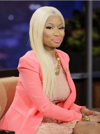 """Blond Lang Rett Lace Front Uten Smell 22"""" Vakker Nicki Minaj Parykk"""