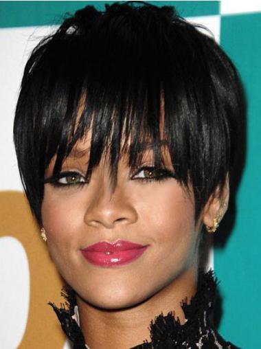 """Maskinknyttet Rett 6"""" Rimelig Syntetisk Rihanna Parykk"""