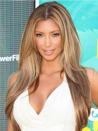 "Monofilament Rett Blond På Nett 24"" Kim Kardashian Parykk"