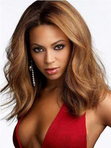 "Syntetisk Fabelaktig Auburn 15"" Halv Lengde Lace Front Beyonce Parykk"