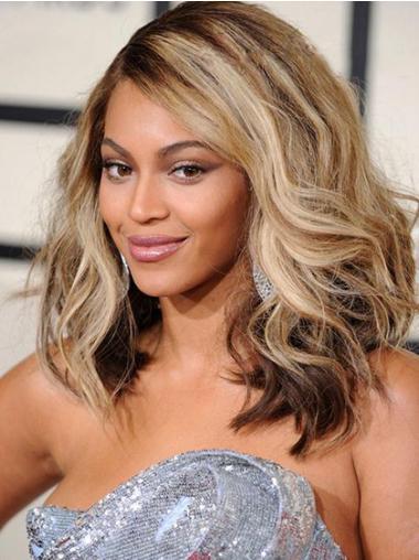 """Lace Front Bølgete 14"""" Blond Slank Beyonce Parykk"""