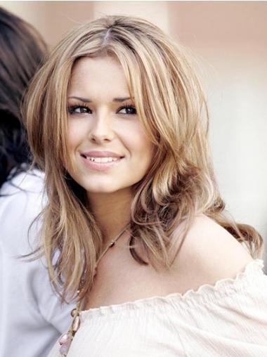 "Blond Perfekt 12"" Rett Maskinknyttet Cheryl Cole Parykk"