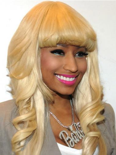 """Blond Lang Bølgete Lace Front Med Smell 24"""" Moderne Nicki Minaj Parykk"""