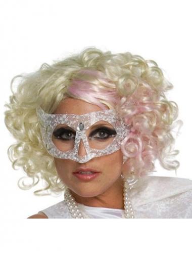 """Krøllete 12"""" Rabatt Syntetisk Blond Halv Lengde Lady Gaga Parykk"""