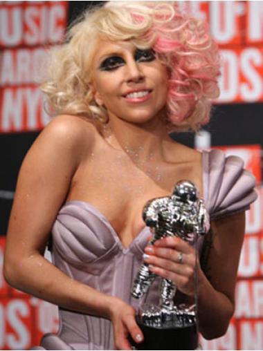 """Bølgete 12"""" Passende Syntetisk Blond Halv Lengde Lady Gaga Parykk"""