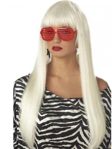"""Rett 24"""" Populær Syntetisk Lang Lady Gaga Parykk"""