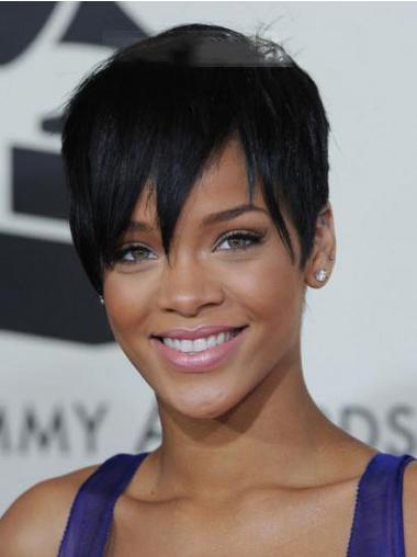 "Lace Front Rett 5"" Fabelaktig Syntetisk Rihanna Parykk"