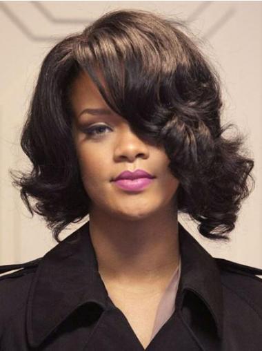 """Brun Halv Lengde Bølgete Lace Front Slank 12"""" Rihanna Parykk"""
