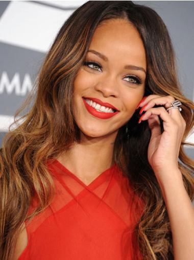 """Maskinknyttet Bølgete 24"""" Beste Syntetisk Rihanna Parykk"""
