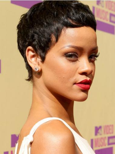 "Maskinknyttet Rett 3"" Frisyrer Syntetisk Rihanna Parykk"