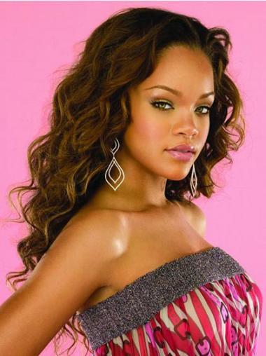 "Maskinknyttet Bølgete 22"" Stilig Syntetisk Rihanna Parykk"
