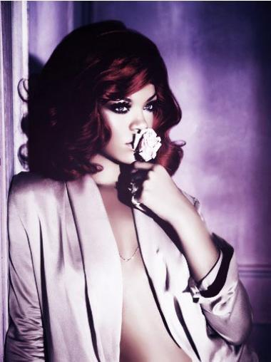 "Rød Halv Lengde Bølgete Lace Front Komfortabel 14"" Rihanna Parykk"