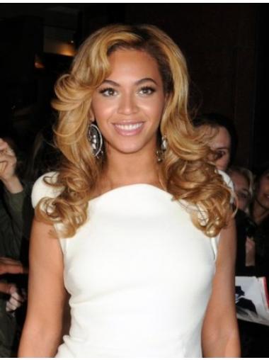 "Maskinknyttet Bølgete 16"" Blond Moderne Beyonce Parykk"