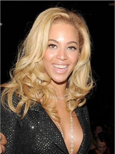 """Brasiliansk Remy Hår Beste Blond 14"""" Halv Lengde Lace Front Beyonce Parykk"""