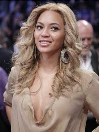 "Syntetisk Frisyrer Blond 16"" Lang Maskinknyttet Beyonce Parykk"