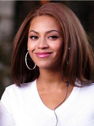 "Syntetisk Topp Auburn 14"" Halv Lengde Lace Front Beyonce Parykk"