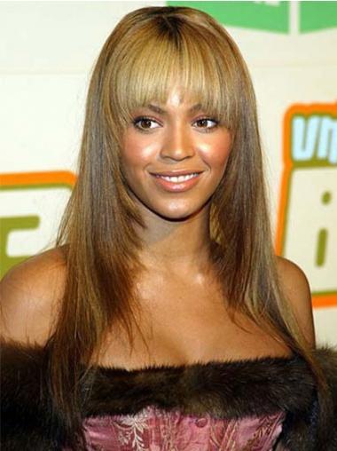"""Brasiliansk Remy Hår Ny Blond 22"""" Lang Maskinknyttet Beyonce Parykk"""