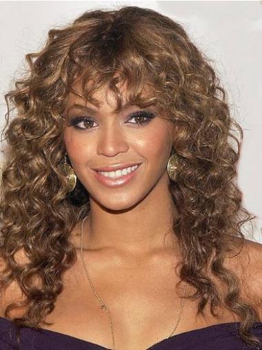 """Maskinknyttet Krøllete 20"""" Auburn Trendy Beyonce Parykk"""