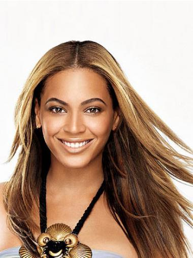 "Full Lace Uten Smell Rett 24"" Brun Komfortabel Beyonce Parykk"