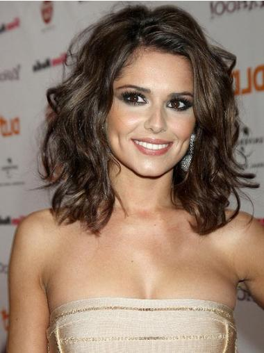 """Brun Gorgeous 14"""" Bølgete Lace Front Cheryl Cole Parykk"""
