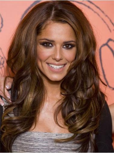 """Brun Stil 24"""" Bølgete Lace Front Cheryl Cole Parykk"""