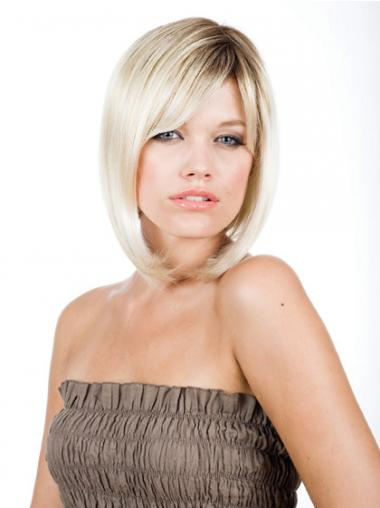 "Bob Rett 10"" Ny Syntetisk Blond Lace Front Parykk"