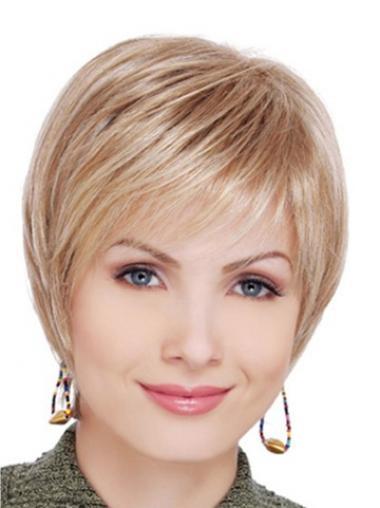 """Lace Front Blond Stil 6"""" Kort Rett Kvinne Parykker"""