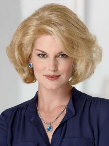 """Klassiske Maskinknyttet Halv Lengde 10"""" Problemfri Blond Kvinne Parykker"""