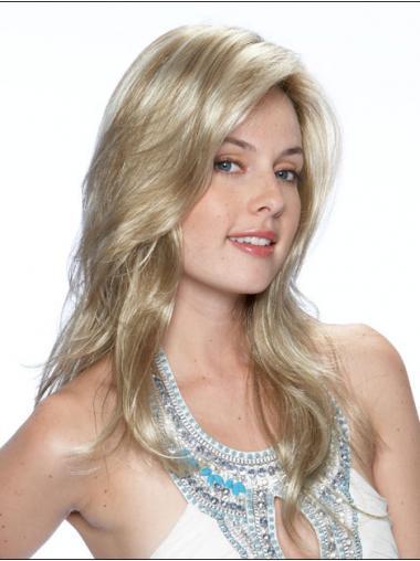 "Bølgete Gorgeous Blond 18"" Syntetisk Lang Lace Front Parykk"